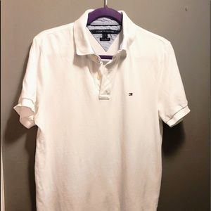 Tommy Hilfiger White Polo Custom Fit White M